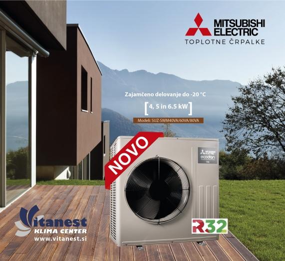 Nove toplotne črpalke Mitsubishi Electric